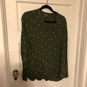 Olive green tunic button down